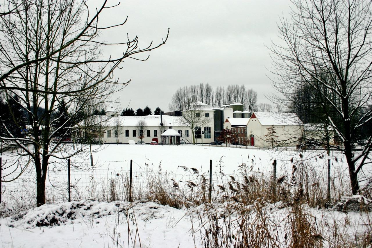 Alfa brouwerij in de sneeuw